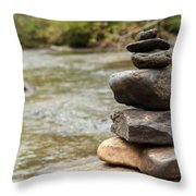 Zen At The Water Throw Pillow
