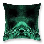 Zen Chaos / Teal  Throw Pillow