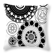 Zen Circles Design Throw Pillow