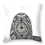 Zen Egg Throw Pillow