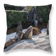 Zen Garden, Kyoto Japan 2 Throw Pillow