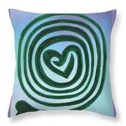 Zen Heart Labyrinth Sky Throw Pillow