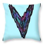 Zen Hearts In Betweens Throw Pillow
