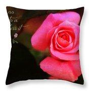 Zen Proverb 2 Throw Pillow