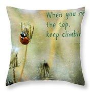 Zen Proverb Throw Pillow