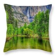 Zen River Throw Pillow