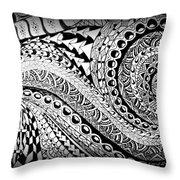 Zen Tangle 1 Throw Pillow