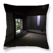 Zen Tea Room Of Koto-in Temple -- Kyoto Japan Throw Pillow