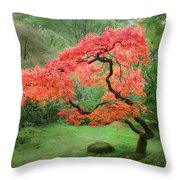 Zen Tree Throw Pillow