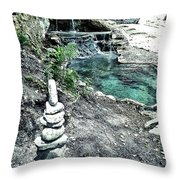 Zen Water Italy Throw Pillow