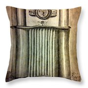 Zenith Radio Throw Pillow