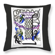 Zentangle Inspired I #2 Throw Pillow