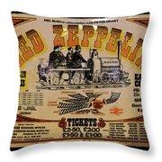 Zeppelin Express Throw Pillow