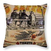 Zeppelin Express Work B Throw Pillow by David Lee Thompson