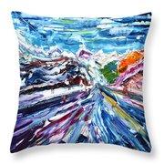 Zermatt Or Cervinia Throw Pillow