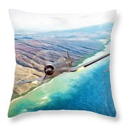Zero Hour For Pappy Throw Pillow