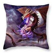 Zerolios - Bone Lighting Dragon Throw Pillow