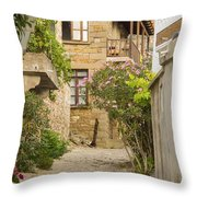 Zeytinli Village Cobblestone Lane Throw Pillow