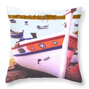 Zeze On The Algarve Throw Pillow