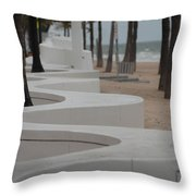 Zig Zag At The Beach Throw Pillow