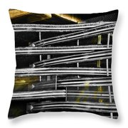 Zig Zag Barrier Throw Pillow