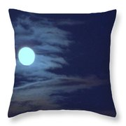 Zig Zag Moon Throw Pillow