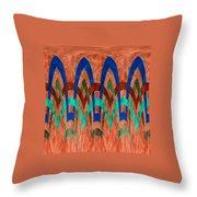 Zig Zag Pattern On Orange Throw Pillow