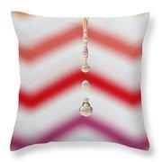 Zigzag Water Drop 4 Throw Pillow