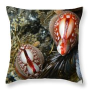 Red And Gooey Throw Pillow