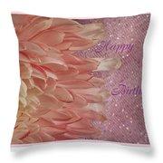 Chrysanthemum Birthday Throw Pillow