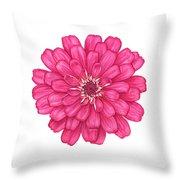 Zinnia In Pink Throw Pillow