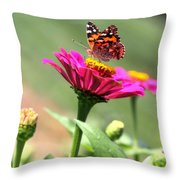 Zinnia Visitor Throw Pillow