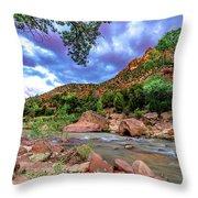 Zion At Daybreak Throw Pillow