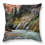 Zion Canyon Throw Pillow