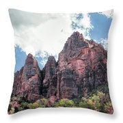 Zion Canyon Terrain Throw Pillow