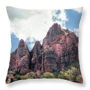 Zion Canyon Terrain Throw Pillow