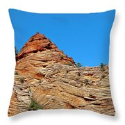 Zion Checkerboard Formations Throw Pillow