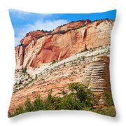 Zion Hike 1 View 2 Throw Pillow
