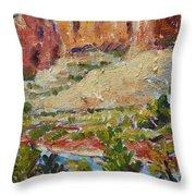 Zion Mountain Cliff Throw Pillow