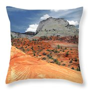 Zion National Park As A Storm Rolls In Throw Pillow