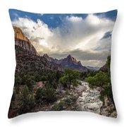 Zion National Park Sunset  Throw Pillow