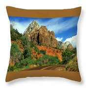 Zion National Park Utah Throw Pillow