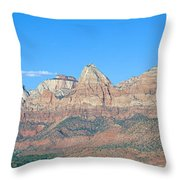 Zion National Park, Valley View Throw Pillow