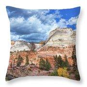 Zion  Promontories Throw Pillow