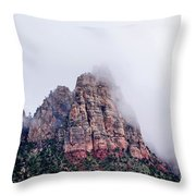 Zion Red Rock And Clouds Throw Pillow