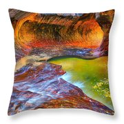 Zion Subway Throw Pillow by Greg Norrell