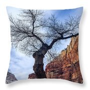 Zion Tree Woman Throw Pillow