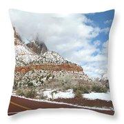 Crossroads, Zion Valley Throw Pillow