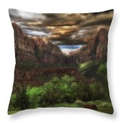 Zion's Morning Throw Pillow