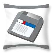 Zip Disk Throw Pillow